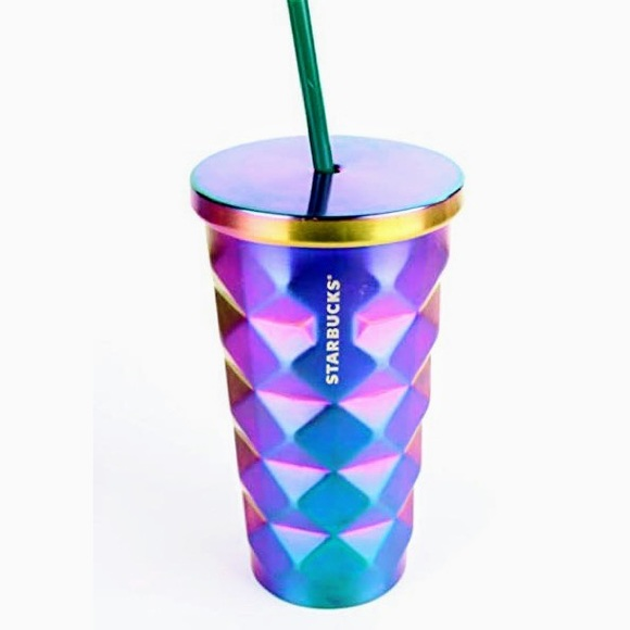 Starbucks Stainless Steel Chiseled Iridescent Cup